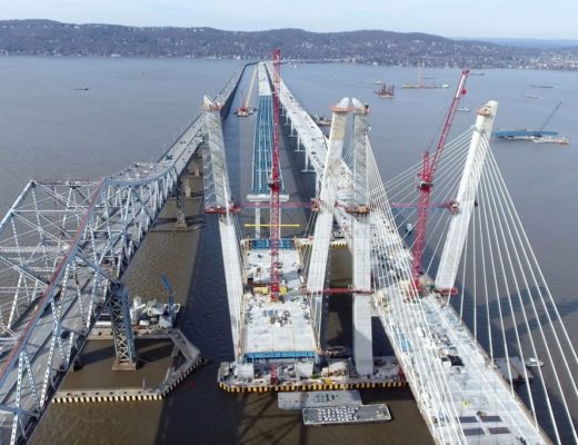 Stunning: Stay Cables Finished on WB Side of New Tappan Zee Bridge