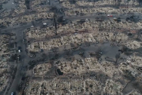 Calif. Wildfires Leveling Homes, Infrastructure